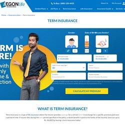 Term Insurance Plans & Policies - Aegon Life