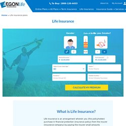 Life Insurance Policy – Buy Life Insurance Plans Online in India – Aegon Life