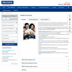 Health Insurance Plans, Medical Insurance Policies @ Reliance General Insurance