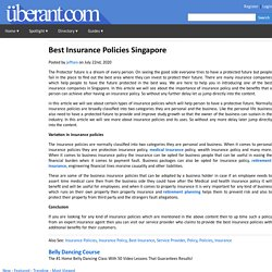 Best Insurance Policies Singapore