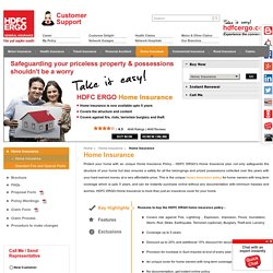 Property Insurance in India-HDFC ERGO