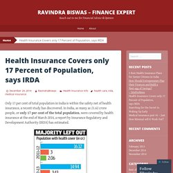 Health Insurance Covers only 17 Percent of Population, says IRDA