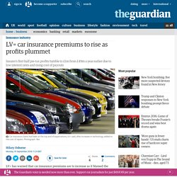 LV= car insurance premiums to rise as profits plummet