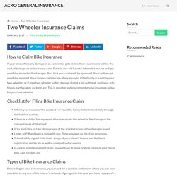 How to File a Bike Insurance Claim? Step by Step Process post Accident