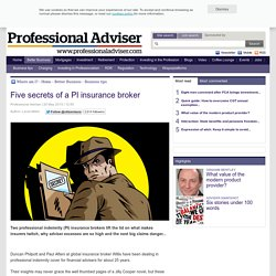 Five secrets of a PI insurance broker
