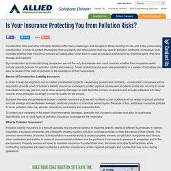 Is Your Insurance Protecting You from Pollution Risks?