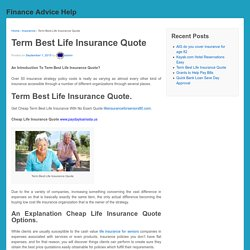 Term Best Life Insurance Quote