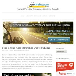 Instant Free Car Insurance Quote in Canada