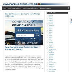 Best Car Insurance Quotes to Save Money and Energy -