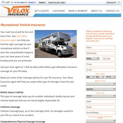 RV Insurance Coverage Online