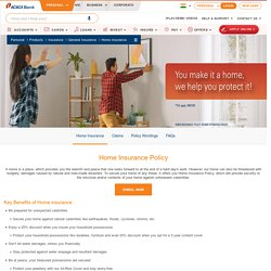 Home Insurance - Buy or Renew Home Insurance Policy Online at ICICI Bank