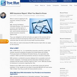 MIB Insurance Report: What You Need to Know - True Blue Life Insurance