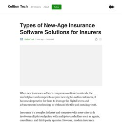 Insurance software solutions for new-age Insurers