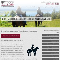 Apply Today For Stable And Trail Riding Insurance