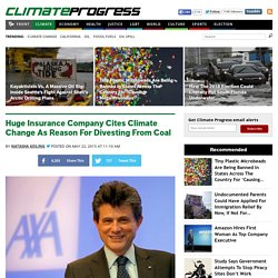 Huge Insurance Company Cites Climate Change As Reason For Divesting From Coal