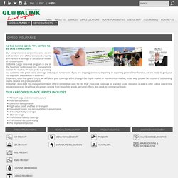 Cargo Insurance « Globalink Transportation and Logistics Worldwide