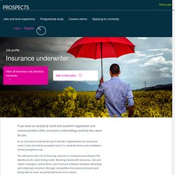 Insurance underwriter job profile