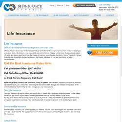 Life Insurance Surrey, Delta, BC, Canada