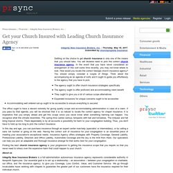 Get your Church Insured with Leading Church Insurance Agency