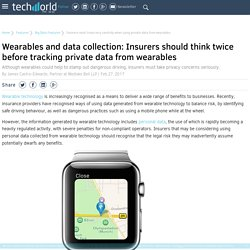 Insurers must tread very carefully when using private data from wearables