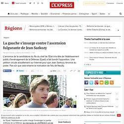 La gauche s'insurge contre l'ascension fulgurante de Jean Sarkoz