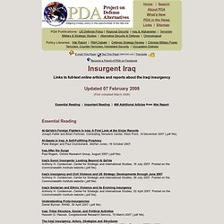Insurgent Iraq: Links to full-text online resources about the Iraqi insurgency