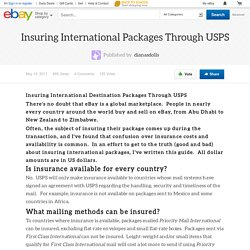 Insuring International Packages Through USPS