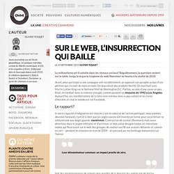 Sur le web, l'insurrection qui baille » Article » OWNI, Digital Journalism