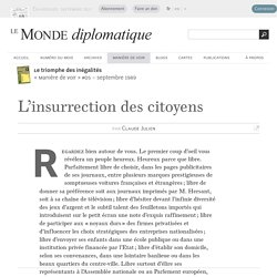 L'insurrection des citoyens, par Claude Julien (Le Monde diplomatique, septembre 1989)