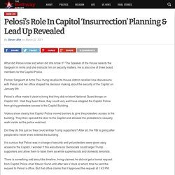 Pelosi's Role In Capitol 'Insurrection' Planning & Lead Up Revealed