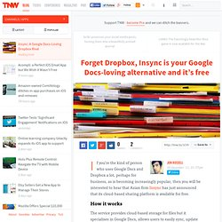 Insync: A Google Docs-Loving Dropbox Rival