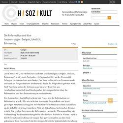 H-Soz-Kult. Kommunikation und Fachinformation für die Geschichtswissenschaften