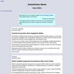 Intactivism news