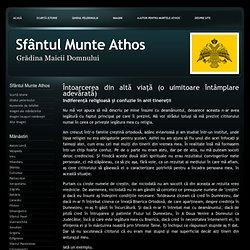 Intamplari minunate - Sfântul Munte Athos - Intoarcerea din alta viata