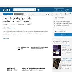 Integração de recursos educativos abertos num modelo pedagógico de ensino-aprendizagem