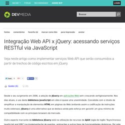 Integração Web API x jQuery: acessando serviços RESTful via JavaScript