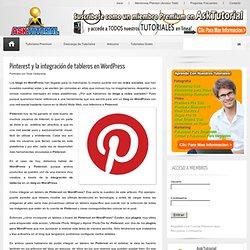 Pinterest y la integración de tableros en Wordpress