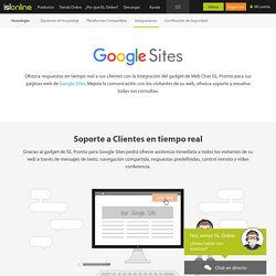 Integración de ISL Pronto en Google Sites