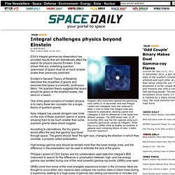 Integral challenges physics beyond Einstein