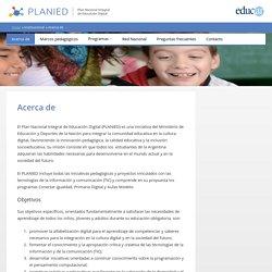 Acerca de – Plan Integral de Educación Digital