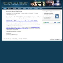 Integral Enlightenment - Thank You
