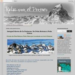 Integral Sierra de la Partacua. De Peña Retona a Peña Telera - Rutas por el Pirineo