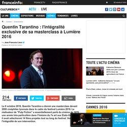Quentin Tarantino : l'intégralité exclusive de sa masterclass à Lumière 2016