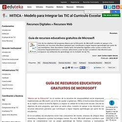 Guía de recursos educativos gratuitos de Microsoft