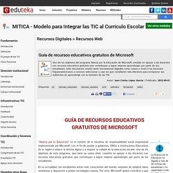 MITICA - Modelo para Integrar las TIC al Currículo Escolar > Recursos Digitales > Recursos Web