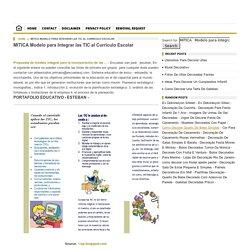 MITICA Modelo para Integrar las TIC al Currículo Escolar
