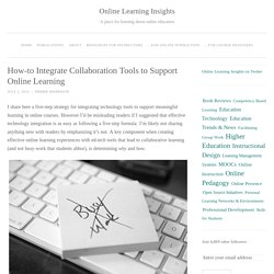 How-to Integrate Online Collaboration Tools to Support Learning