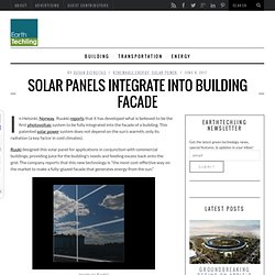 Solar Panels Integrate Into Building Facade