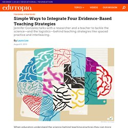 Simple Ways to Integrate Four Evidence-Based Teaching Strategies