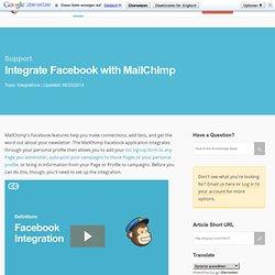 Integrar Facebook con MailChimp